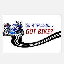 $5 A Gallon...Got Bike Postcards (Package of 8)