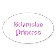 Belarusian Princess Oval Decal