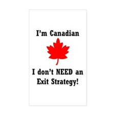 The Canadian Advantage Rectangle Decal