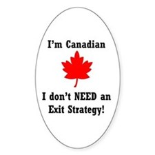 The Canadian Advantage Oval Decal