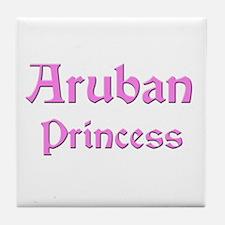 Aruban Princess Tile Coaster