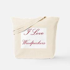 I Love Woodpeckers Tote Bag