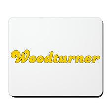 Retro Woodturner (Gold) Mousepad