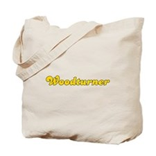 Retro Woodturner (Gold) Tote Bag