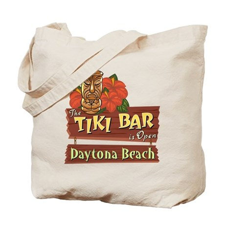 Daytona Beach Tiki Bar - Tote or Beach Bag