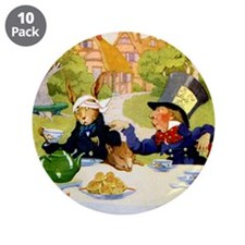 """Mad Hatter 3.5"""" Button (10 pack)"""