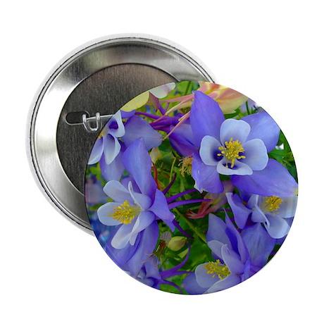 "Columbine Flowers 2.25"" Button"