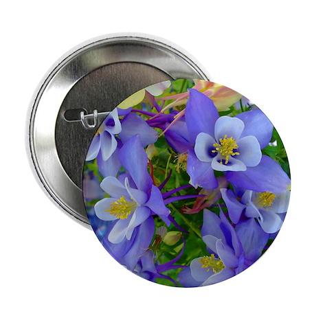 "Columbine Flowers 2.25"" Button (10 pack)"