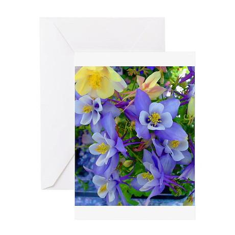 Columbine Flowers Greeting Card