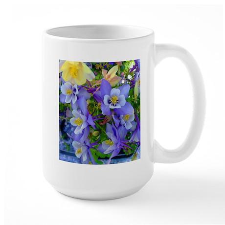 Columbine Flowers Large Mug