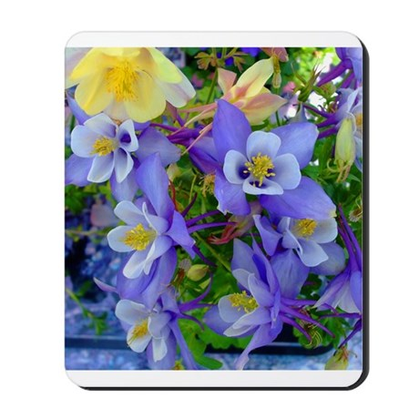 Columbine Flowers Mousepad