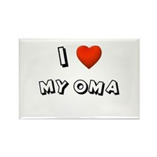 I Love My Oma Rectangle Magnet