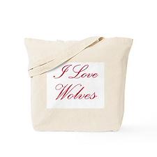 I Love Wolves Tote Bag