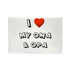 I Love My Oma & Opa Rectangle Magnet
