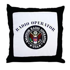 Radio Operator Throw Pillow