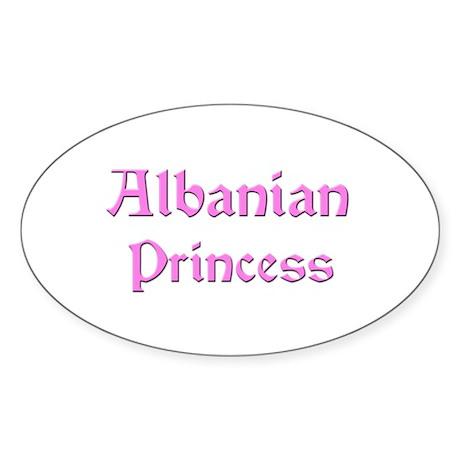 Albanian Princess Oval Sticker