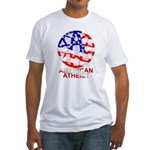 American Atheist Fitted Tee Shirt
