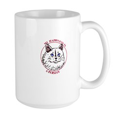 Happiness is a Persian Cat Large Mug
