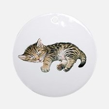 Cat Nap Ornament (Round)
