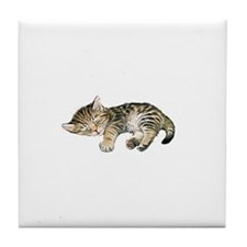 Cat Nap Tile Coaster