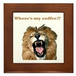 Where's my coffee Framed Tile