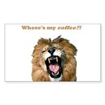 Where's my coffee Rectangle Sticker 50 pk)