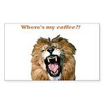 Where's my coffee Rectangle Sticker 10 pk)
