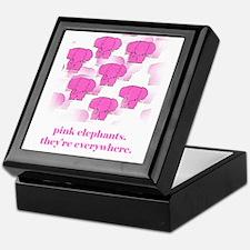 Pink Elephants Keepsake Box