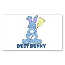 Dust Bunny Rectangle Decal