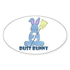 Dust Bunny Oval Decal