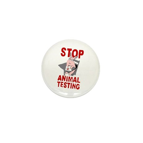 Stop Animal Testing Mini Button (100 pack)