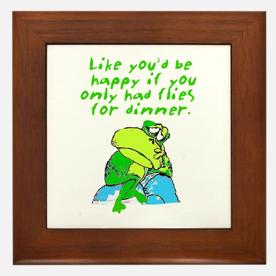 Unhappy Frog Framed Tile
