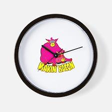 Makin' Bacon Wall Clock