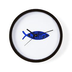 Jesus fish n chips Wall Clock