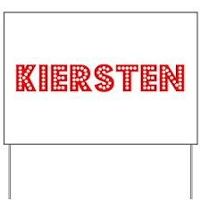 Retro Kiersten (Red) Yard Sign