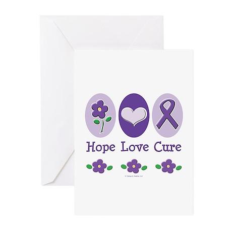 Purple Ribbon Alzheimer's Greeting Cards (Pk of 10
