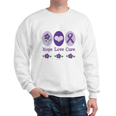 Purple Ribbon Alzheimer's Sweatshirt