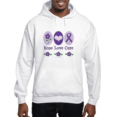 Purple Ribbon Alzheimer's Hooded Sweatshirt