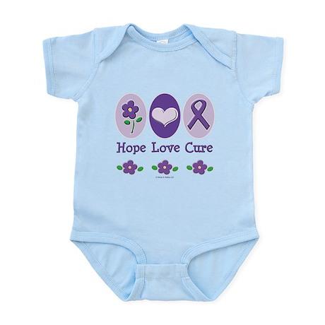 Purple Ribbon Alzheimer's Infant Bodysuit