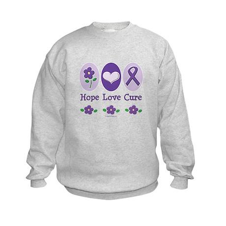 Purple Ribbon Alzheimer's Kids Sweatshirt