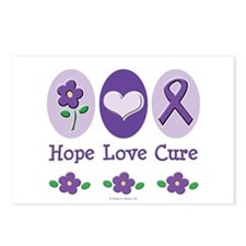 Purple Ribbon Alzheimer's Postcards (Package of 8)