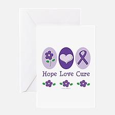 Purple Ribbon Alzheimer's Greeting Card