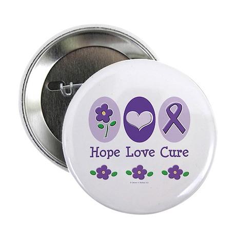 "Purple Ribbon Alzheimer's 2.25"" Button (100 pack)"