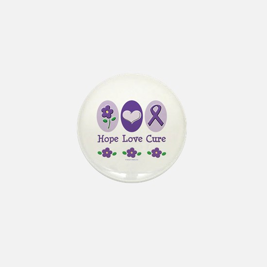 Purple Ribbon Alzheimer's Mini Button