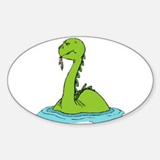 Water Dinosaur Oval Decal