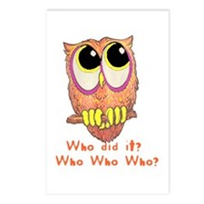 Owl Who did it? Postcards (Package of 8)
