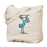 Stork Visit Boy Tote Bag
