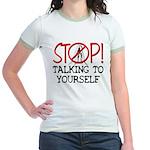 Stop Praying Jr Ringer T-Shirt