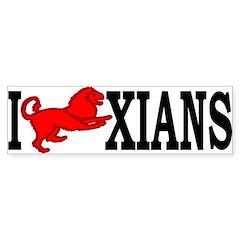 I Roman Lion Xians Bumper Bumper Sticker