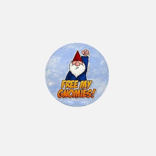 free my gnomies! Mini Button